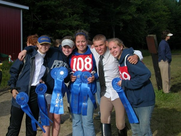 Blast from the past: 10+ years ago, on the eft are myself and Aly at a Pony Club competition.