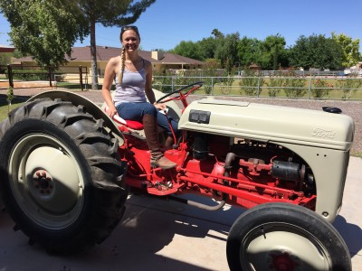When I learned what a clutch was, I was 12 years old driving farm tractors. (This photo is from 2015, though)