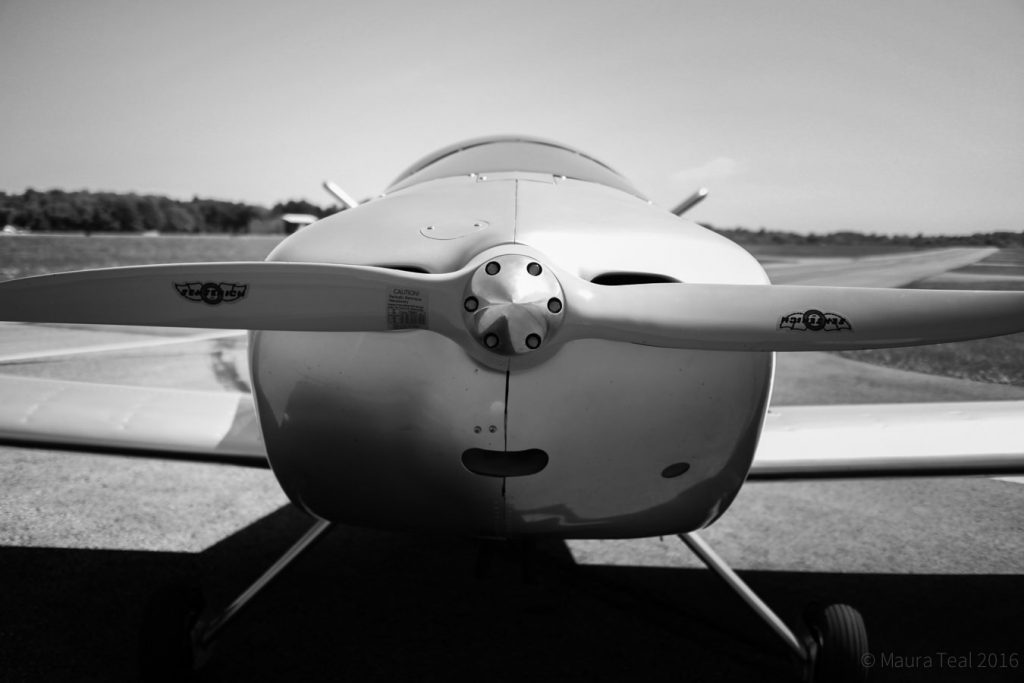 """Propeller firmly attached. The """"smile"""" visible here is one of my favorite parts of this shot."""