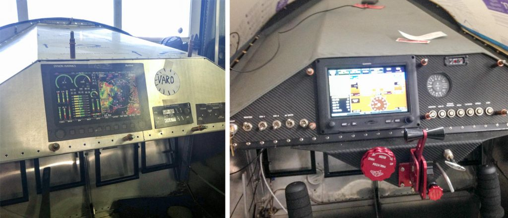 Instrument panel before and after, 2014-2015